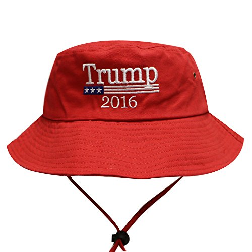 Bd2024 Donald Trump Flag Bucket Hat with String Red ...